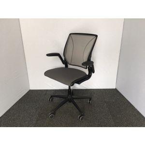 Human Scale Liberty Operator Chair in Black & Grey