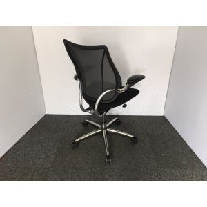 Human Scale Liberty Operator Chair with Chrome Base