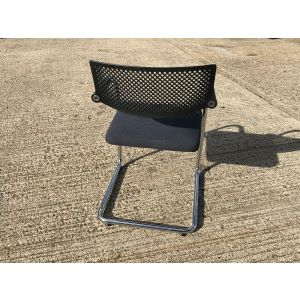Vitra Visavis Black & Chrome Chair