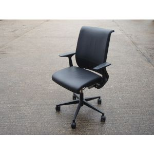 Leather Steelcase Task Chair