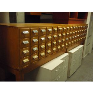 Multi Drawer Card Index Cabinet and Stand
