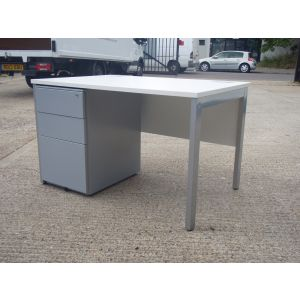 New Bench Desk 1200 x 800 with Second-hand Pedestal