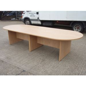New Oak 3200 Boardroom Table