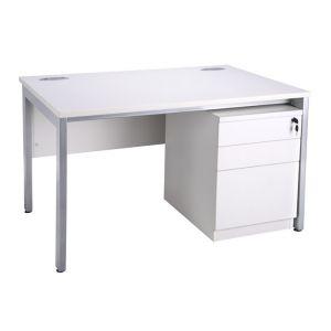 1280 Freestanding Bench Desking With Mobile Pedestal