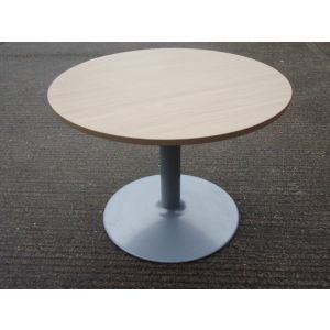 Oak Senator 1000 Pedestal Base Table