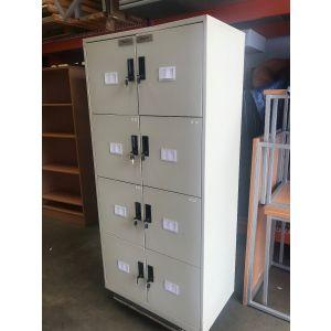 Grey 8 Door Post Style Cabinet