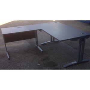 Dark Grey Desk Return 1000x600