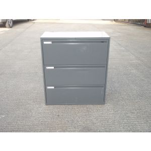 Grey 3 Drawer Side-Filers
