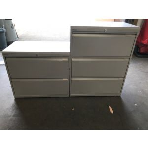 Bisley Grey Side Filers with White Laminate Top