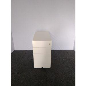 White Desk High Slimline Pedestal