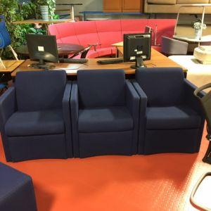 Square Dark Blue Easy Chair