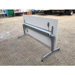 Steelcase White Folding Table