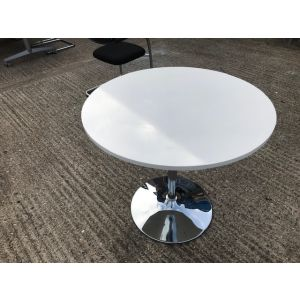 Steelcase White Circular Table