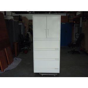 Light Grey 2 Door 3 Drawer Storage Cabinet