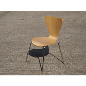 Wood and Chrome Canteen Chair