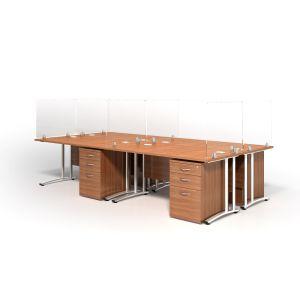 Desk Mounted Virus Shield Screens