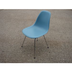Vitra DSX Light Blue and Chrome Chairs