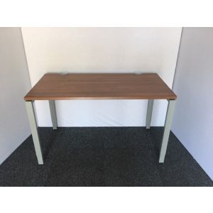 Haworth Walnut Bench Desk with Slimline Pedestal
