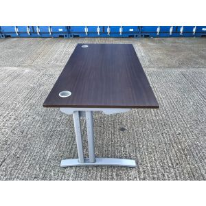Walnut 1600 x 800 Desk & Pedestal
