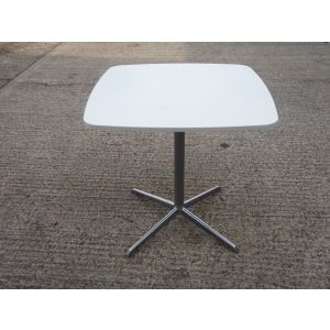 White Pedestal Base Table