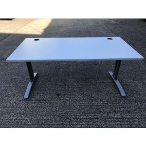 Light Grey 1600 Desk & Pedestal