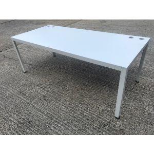 Techno White Boardroom Table