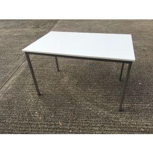 White Rectangular Table