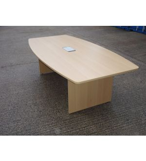 Oak Panel End Boardroom Table 2400 x 1200