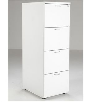 TC 4 Drawer Wooden Filing Cabinet