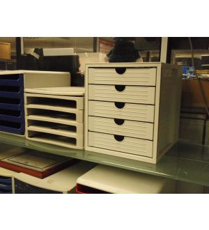 5 Drawer Letter File Box
