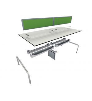2 User 1200 Double Bench System 1600 Leg Frame