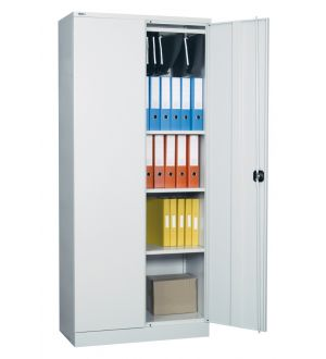 Grey Two Door Storage Cabinet