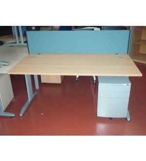 Beech or Maple 1600 x 800 Desk