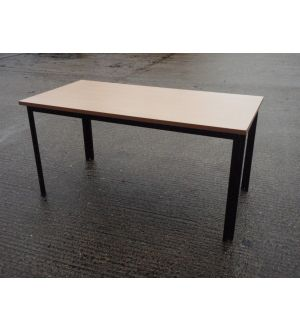 Beech Table 1500x750, Black Folding Frame