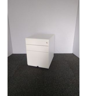 White Mobile Pedestal