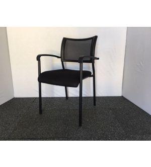 Black Framed Mesh Back Meeting Chair