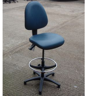 Pledge Blue Draughtsmans Chair