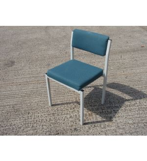 Blue Grey Framed Stacking Chair