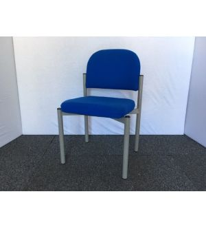 Blue & Silver Frame Stacking Chair
