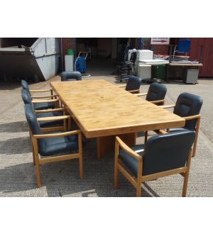 Boardroom Table And Matching Chairs 3000 x 1200