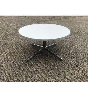 White Circular Coffee Table