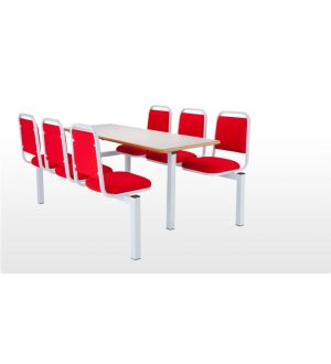 6 Seater with 1500 x 600mm table - Single Entry