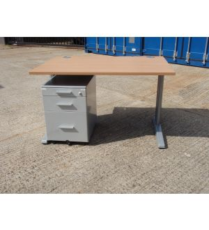 Cantilever Desk 1200 x 800 with Mobile Pedestal