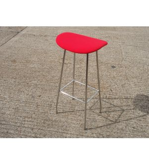 Chrome Base Upholstered Top Bar Stool