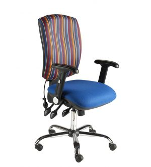 Chrome Task Chairs Folding Arms