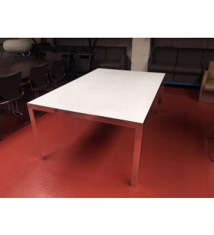 Chrome & Glass Boardroom Table