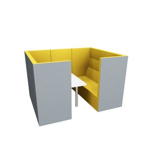 Tall Booth Seating Unit with Table