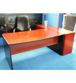 Desk and Side Credenza