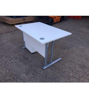 White Cantilever 1200x800 Desk
