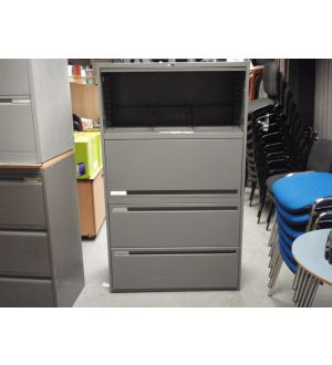 Grey 4 Drawer Up and Over Side Filers
